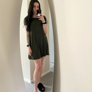 Black and green sundress